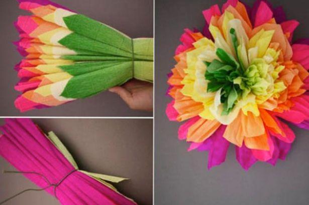 Sigue Estos Pasos Para Elaborar Hermosas Flores Con Papel De China