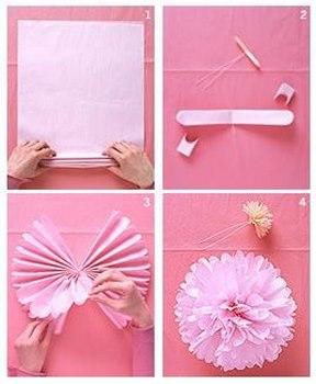Sigue estos pasos para elaborar hermosas flores con papel - Envolver regalos con papel de seda ...