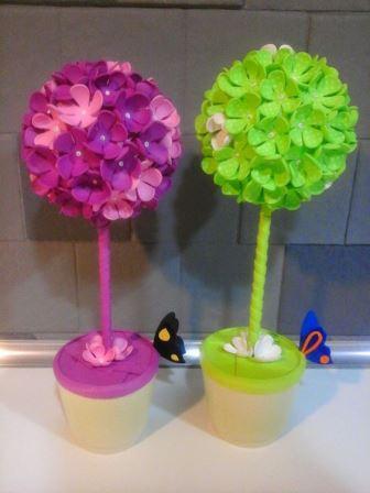 Bonitas ideas para hacer centros de mesa con foami goma eva for Mesas de centro bonitas