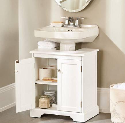 Maravillosos organizadores para ba os - Muebles de bano adaptables a lavabo con pie ...
