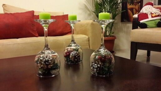 15 ideas para elaborar centros de mesa con copas de cristal for Centros de mesa con copas