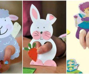 13 Ideas para Hacer Marionetas de Dedos con Papel, Ideal para tus Niñ@s