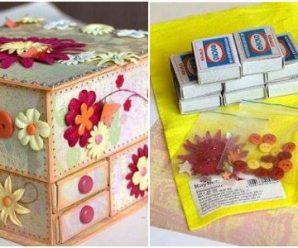 Utiliza Cajas de Cerillos para Hacer un Bonito Alhajero