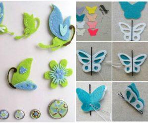 Crea unas Lindas Mariposas con Estas Ideas Usando Fomy y Fieltro
