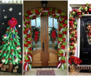 Dale la Bienvenida a la Navidad con estas Bellas Decoraciones para Puertas
