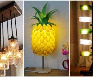 Lámparas Recicladas que Querrás Tener en Casa