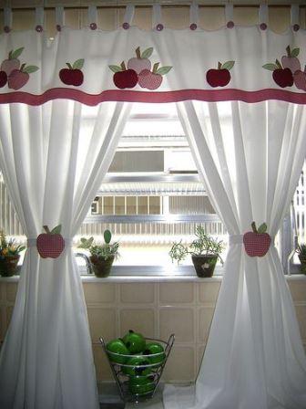 Creativas ideas de cortinas para adornar la cocina - Ideas cortinas cocina ...