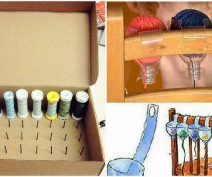Excelentes Ideas para Organizar tu Material de Costura y Listones