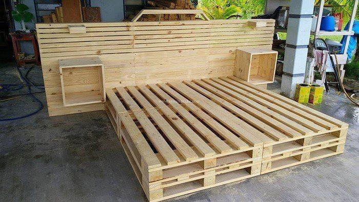 Muebles completos con palets ahorra decora reutiliza for Tarimas de madera recicladas