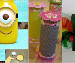 Reciclando y Creando Bonitos Dulceros para Fiestas