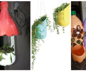 Maceteros para plantas pequeñas con materialtransformado