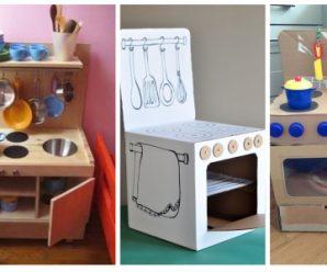 Diseña estufa y lavamanos para que jueguen tus pequeños
