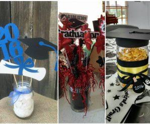 Centros de mesa decorativos para graduaciones