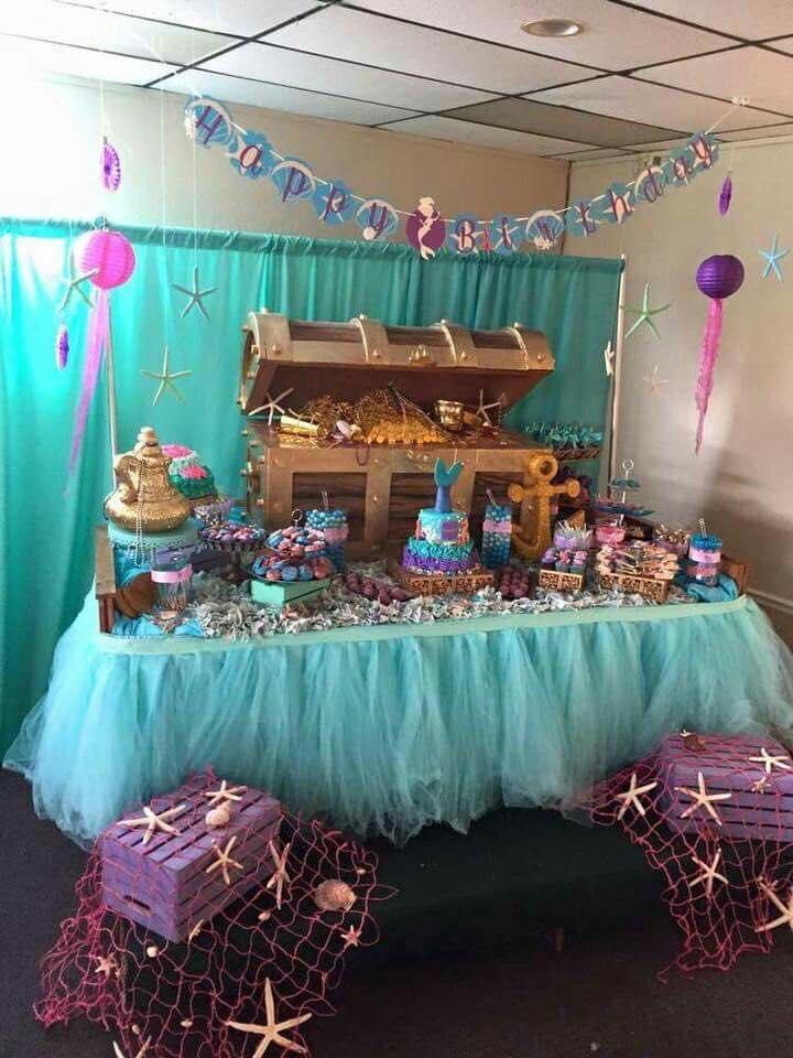 Bellísimas Decoraciones Para Fiesta Temática De Sirenas
