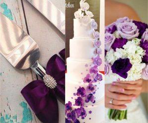 Ejemplos para una boda en tono morado