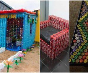 Muebles creados con material reciclado