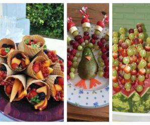 Riquísimas opciones sanas para mesa de fiestas